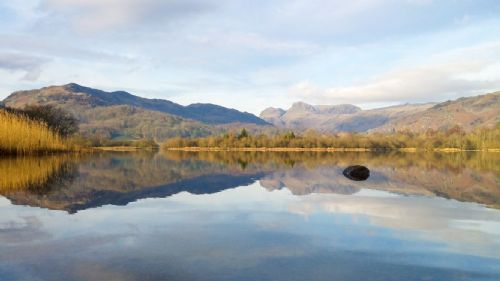 Landscape Canvas Framed Wall Art - Lake at the Lake District